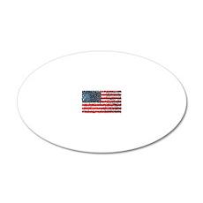 USA flag 20x12 Oval Wall Decal
