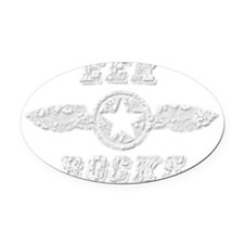 EEK ROCKS Oval Car Magnet