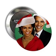 "Obama Christmas 2.25"" Button"