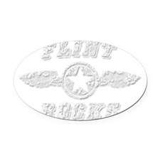 FLINT ROCKS Oval Car Magnet