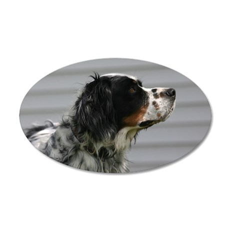 I love Setters! 35x21 Oval Wall Decal