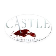 Castle Art Pen Every Artist needs  Oval Car Magnet