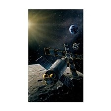 Artwork of lunar lander dockin Decal