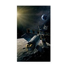 Artwork of lunar lander docki Rectangle Car Magnet