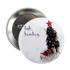 """chihuahua, dog, christmas, bah humbug 2.25"""" Button"""