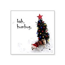 "chihuahua, dog, christmas,  Square Sticker 3"" x 3"""
