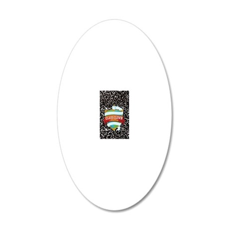 pet tag 03 20x12 Oval Wall Decal