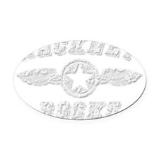 HACKNEY ROCKS Oval Car Magnet