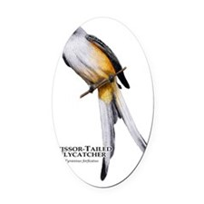 Scissor-Tailed Flycatcher Oval Car Magnet