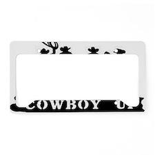 Cowboy Up License Plate Holder