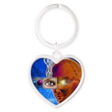 Artificial intelligence Heart Keychain