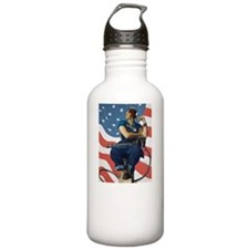 Rosie the Riveter - A  Sports Water Bottle