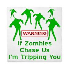 blk_zombies_chase_us Queen Duvet