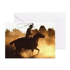 Roping Cowboy Greeting Card