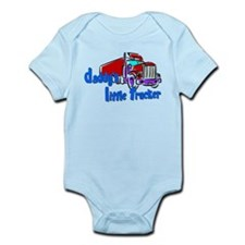 Daddy's Little Trucker - Blue Infant Bodysuit