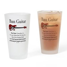Bass Guitar LFG Drinking Glass