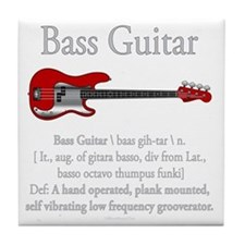 Bass Guitar LFG Tile Coaster
