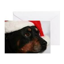Rottweiler Santa Greeting Card