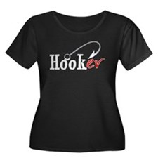 Hooker (Fishing Hook) Women's PLUS Size Scoop Nec