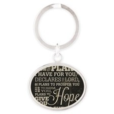 Hope and a Future Oval Keychain