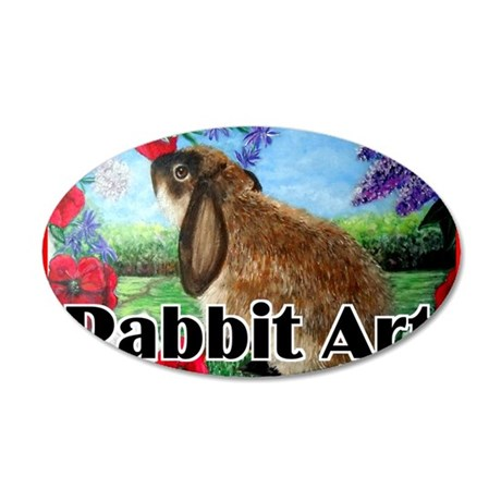 cover rabbit art 35x21 Oval Wall Decal