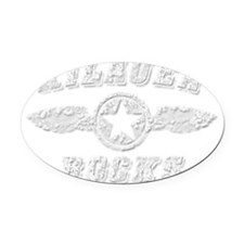 KILAUEA ROCKS Oval Car Magnet