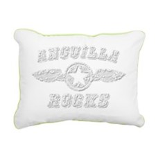 ANGUILLA ROCKS Rectangular Canvas Pillow
