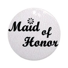 Maid of Honor (black) Ornament (Round)