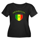 Senegal Soccer Women's Plus Size Scoop Neck Dark T