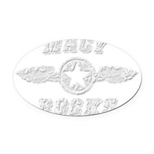 MACY ROCKS Oval Car Magnet