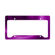 Purple Spiral License Plate Holder
