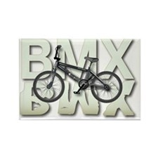BMX Graphite Bikes Graphic Design Rectangle Magnet
