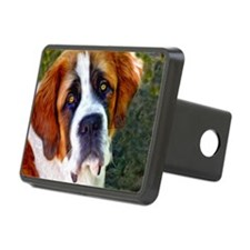 St Bernard Dog Photo Paint Rectangular Hitch Cover