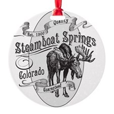 Steamboat Springs Vintage Moose Ornament