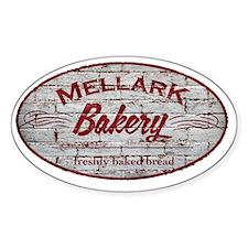 Hunger Games Mellark Bakery Distres Sticker (Oval)