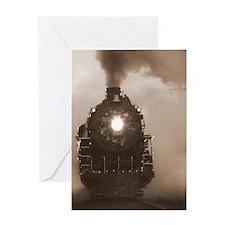 Christmas Train 0.62 Greeting Card