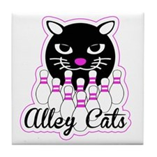 Alley Cat Bowling Tile Coaster