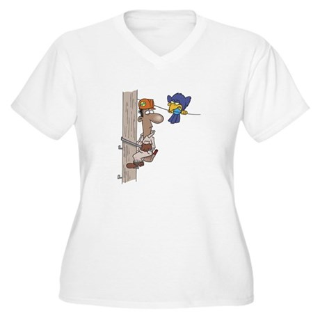 Lineman Women's Plus Size V-Neck T-Shirt