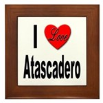 I Love Atascadero Framed Tile