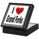 I Love Grand Forks Keepsake Box