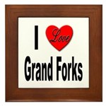 I Love Grand Forks Framed Tile