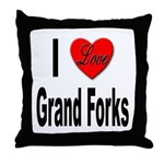 I Love Grand Forks Throw Pillow