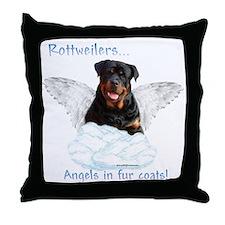 Rottie Angel Throw Pillow
