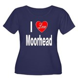 I Love Moorhead (Front) Women's Plus Size Scoop Ne