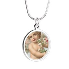 Cherub 1 Silver Round Necklace