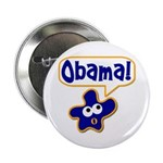 Obama! Metal Pinback Campaign Button