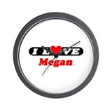 I Love Megan Wall Clock