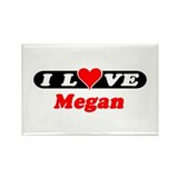 I Love Megan Rectangle Magnet (10 pack)