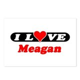 I Love Meagan Postcards (Package of 8)