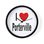 I Love Porterville Wall Clock